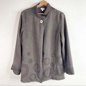 ☀️J. Jill Long Sleeve Jacket Cardigan Embroidered